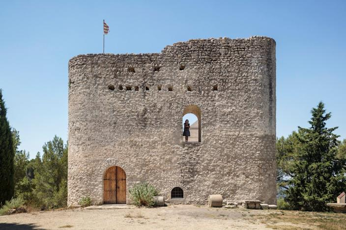 Front ground view of the renovated Castell de la Tossa.