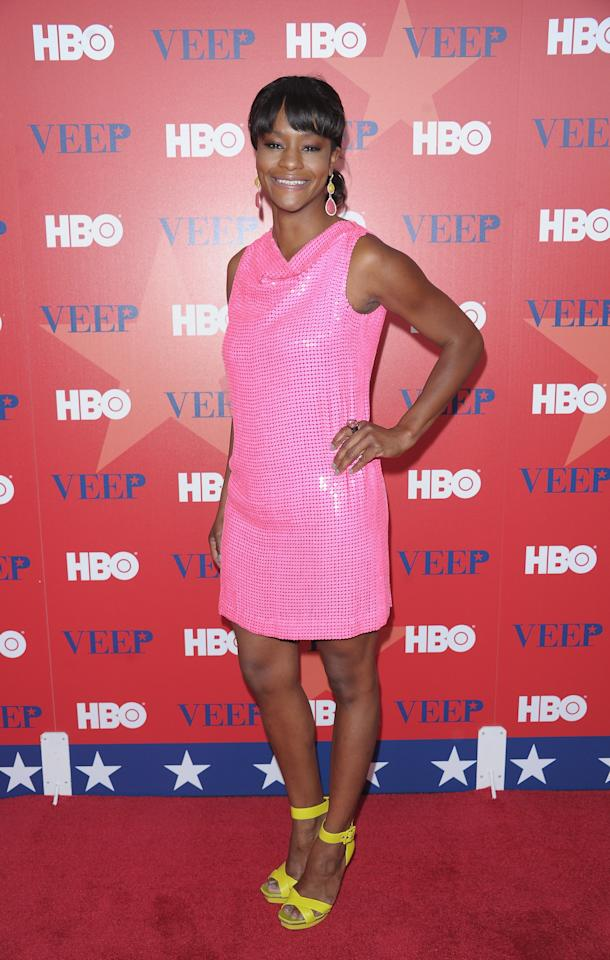 "NEW YORK, NY - APRIL 10:  Actress Sufe Bradshaw attends the ""Veep"" screening at the Time Warner Screening Room on April 10, 2012 in New York City.  (Photo by Michael Loccisano/Getty Images)"