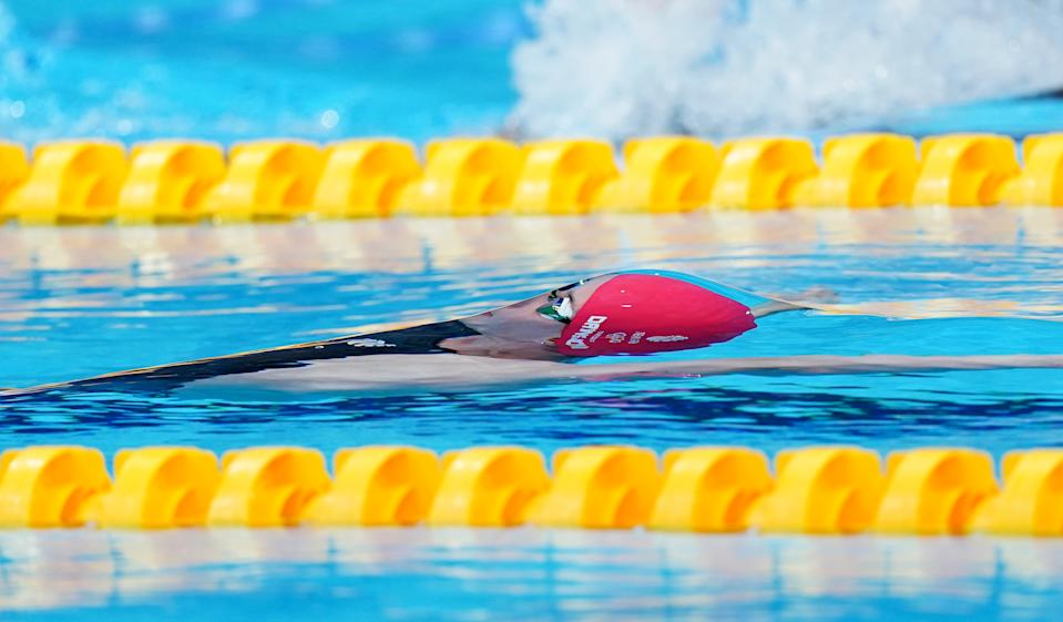 <p>Great Britain's Kathleen Dawson in action during Women's 100m Backstroke first semi final at the Tokyo Aquatics Centre on the third day of the Tokyo 2020 Olympic Games in Japan. Picture date: Monday July 26, 2021. (Photo by Adam Davy/PA Images via Getty Images)</p>
