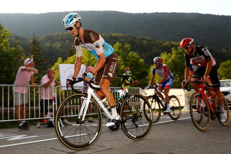 AG2R La Mondiale's Alexis Vuillermoz on stage 16 of the 2020 Tour de France