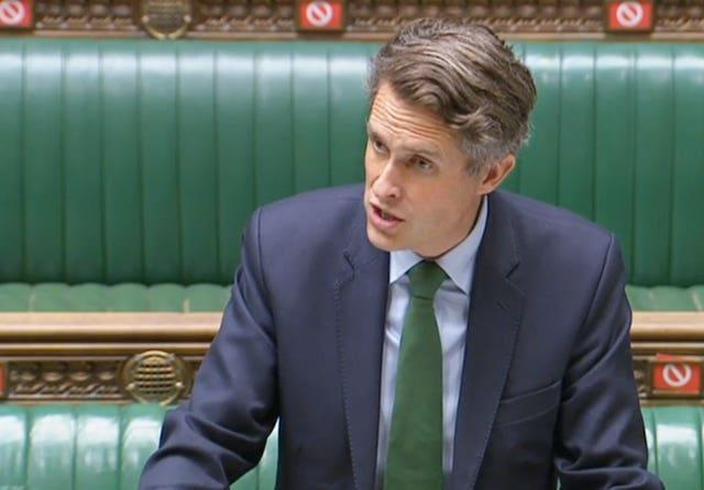 Education Secretary Gavin Williamson speaking to MPs in the House of Commons