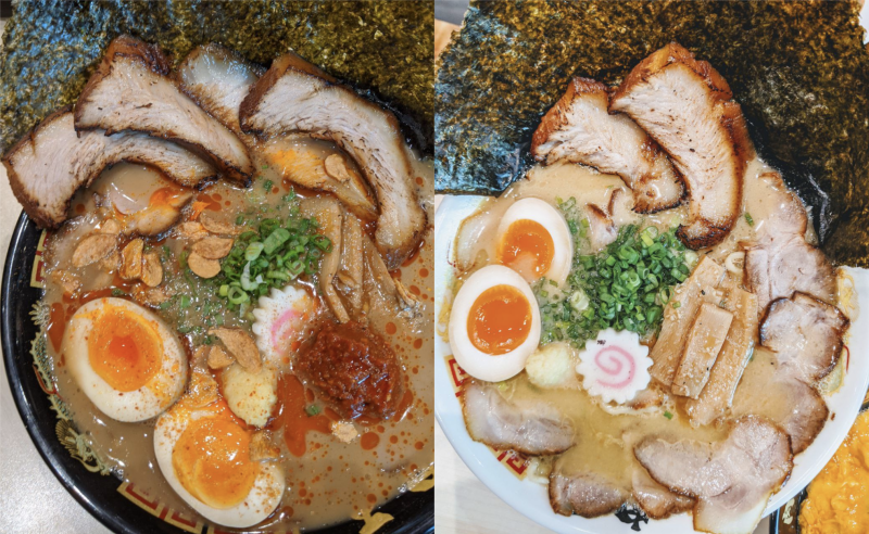 Two different types of ramen from Niku King