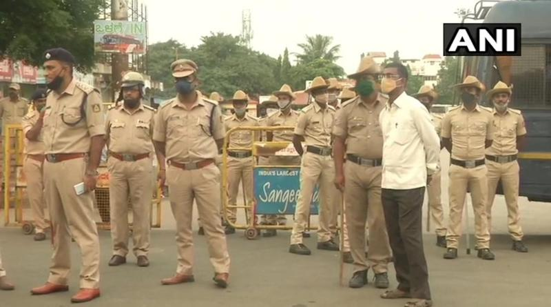 Karnataka Bandh Updates: Heavy Police Force Deployed in Kalaburagi As Farmers to Protest Against State Farm Bills