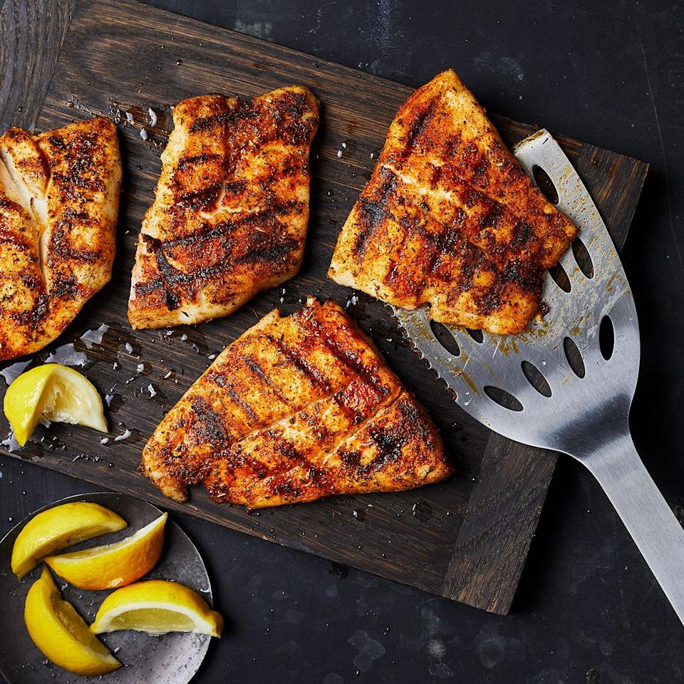 <p>This simple grilled snapper has clean flavors and a nice char flavor from the grill. It's well seasoned but not overly spicy. Serve along with grilled veggies or a fresh green salad to make it a meal.</p>