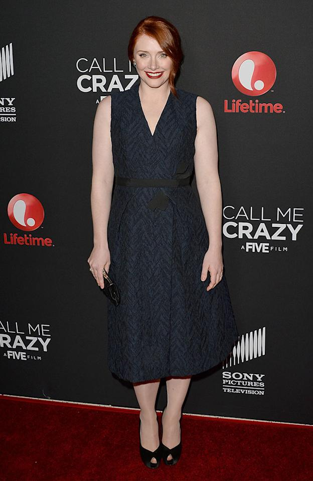 "Bryce Dallas Howard attends the premiere of Lifetime's ""Call Me Crazy: A Five Film"" at Pacific Design Center on April 16, 2013 in West Hollywood, California."