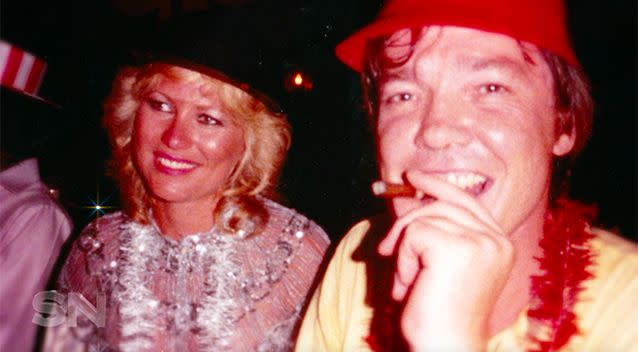 An early photograph of Kerri-Anne and John Kennerley.