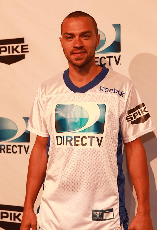 """""""Grey's Anatomy"""" star Jesse Williams arrives at the DirecTV Celebrity Beach Bowl in Indianapolis."""
