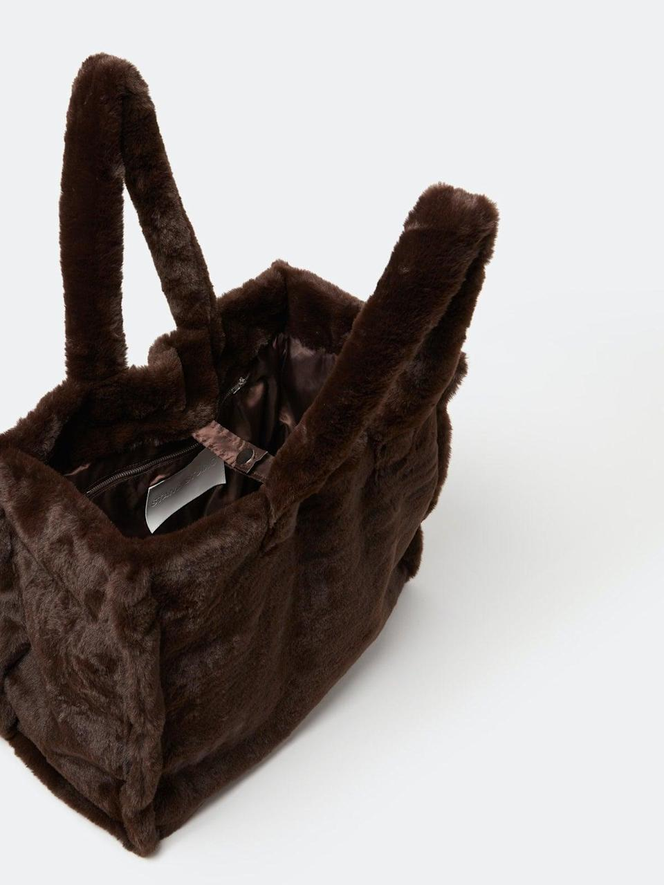 <p>We all know someone who needs this <span>STAND STUDIO Lola Soft Teddy Tote Bag</span> ($220).</p>