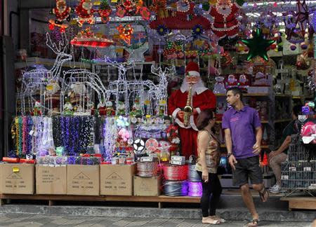 Chinese goods are displayed at a store in downtown Sao Paulo