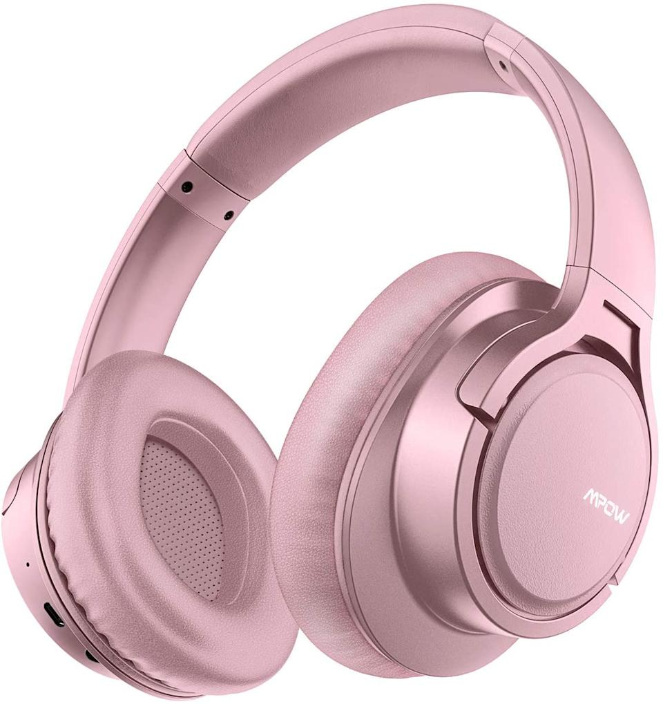 Mpow H7 Bluetooth Headphones in Rose. Photo via Amazon