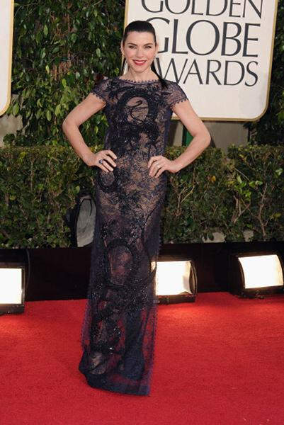 "<div class=""caption-credit""> Photo by: Getty Images</div><div class=""caption-title""></div><b>BEST: Julianna Margulies</b> <br> Sexy and revealing, but far from trashy. This backless, lace Pucci gown was one of our faves."