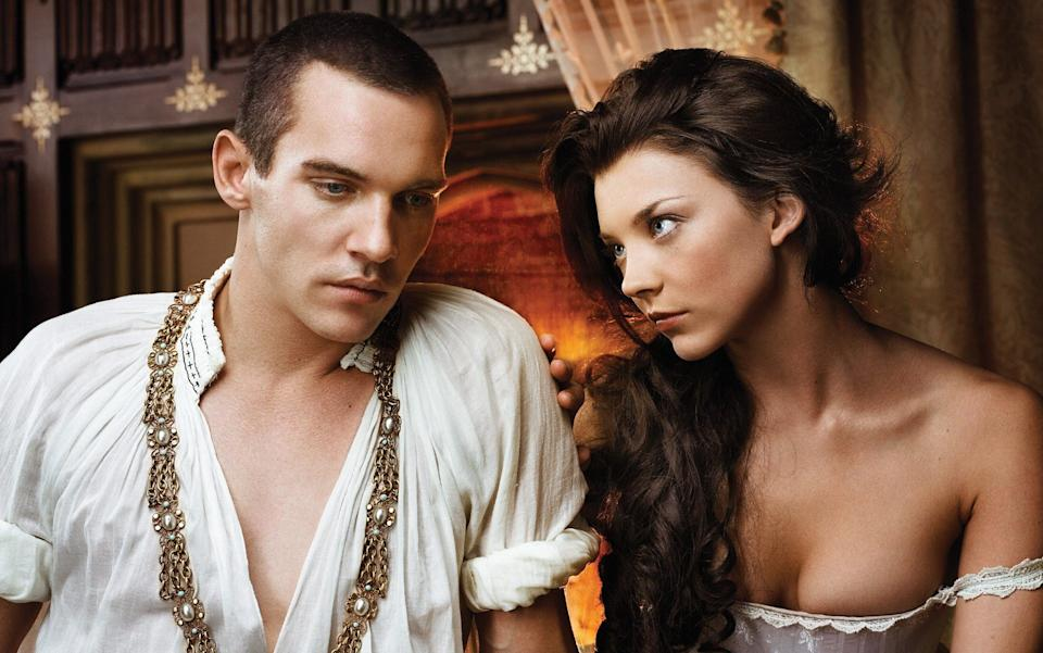 Jonathan Rhys Meyers with Natalie Dormer, the queen of historical raunch, in The Tudors - BBC/Sony