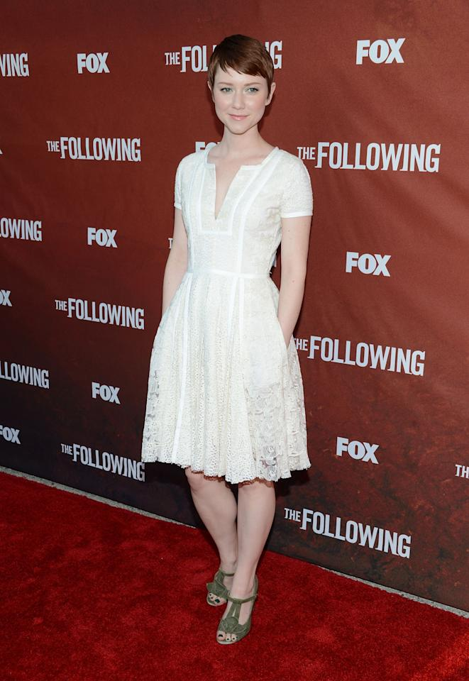 "NORTH HOLLYWOOD, CA - APRIL 29:  Actress Valorie Curry attends the screening of Fox's ""The Following"" at Leonard H. Goldenson Theatre on April 29, 2013 in North Hollywood, California.  (Photo by Jason Kempin/Getty Images)"