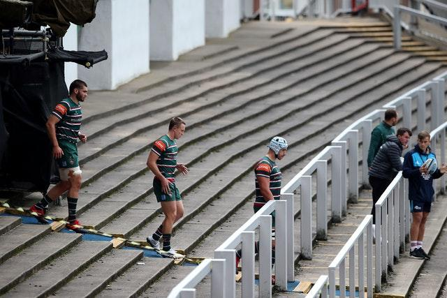 All matches at Welford Road are being played behind closed doors