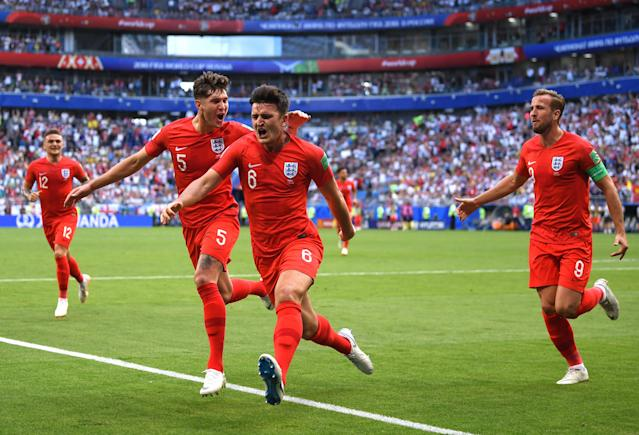 The 25-year-old headed home the goal that broke the deadlock for England in their quarter-final against Sweden...