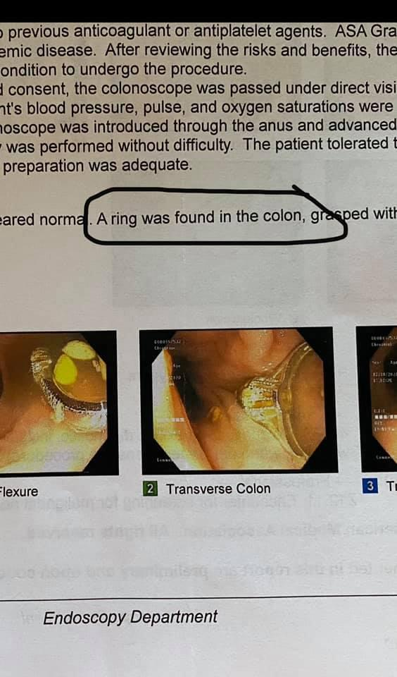 """Rhonda said she """"nearly died"""" when she was told what the doctors had found. Photo: Facebook"""