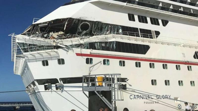 Carnival cruise assessing damage to 2 ships after collision