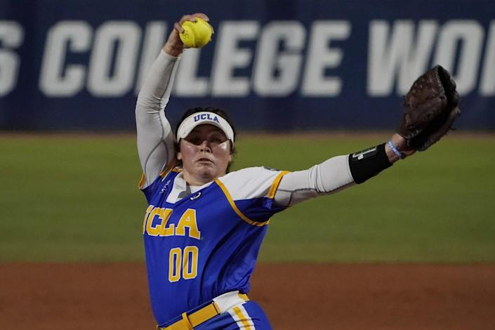 UCLA's Rachel Garcia delivers against Alabama in the first inning Friday.