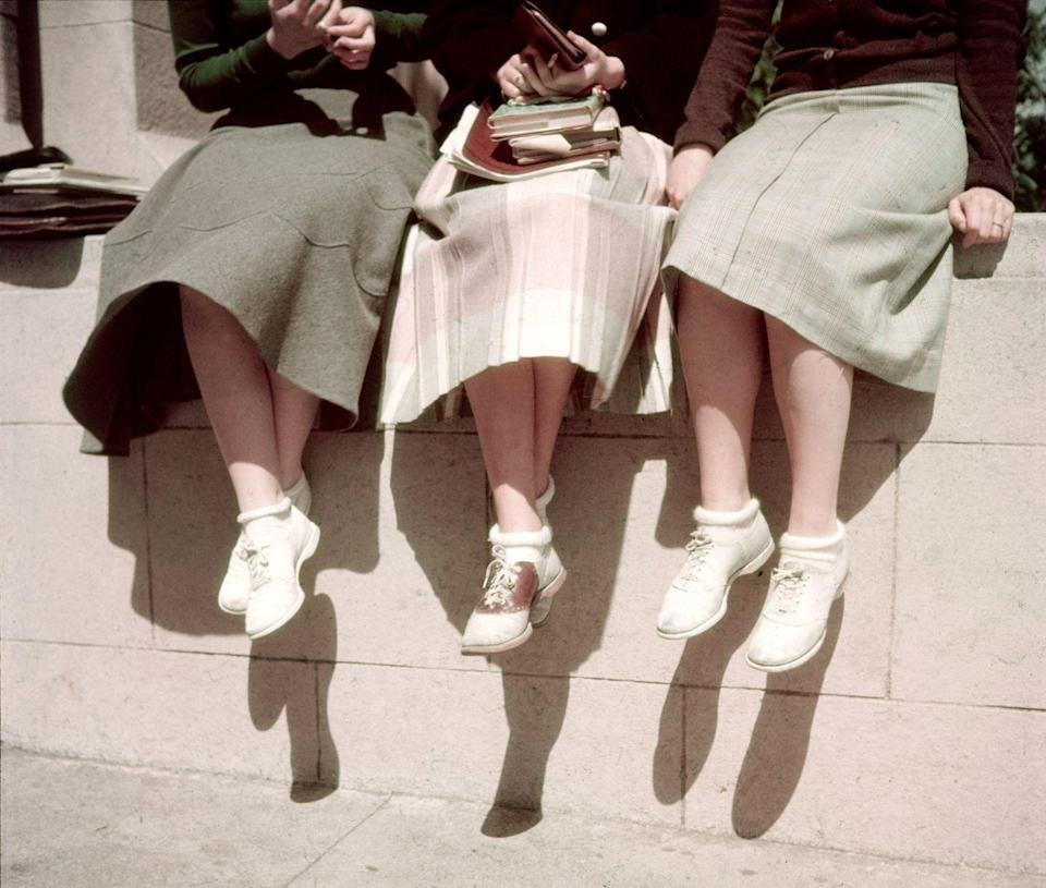 """<p>That """"let's meet at the soda fountain after school"""" look. </p>"""