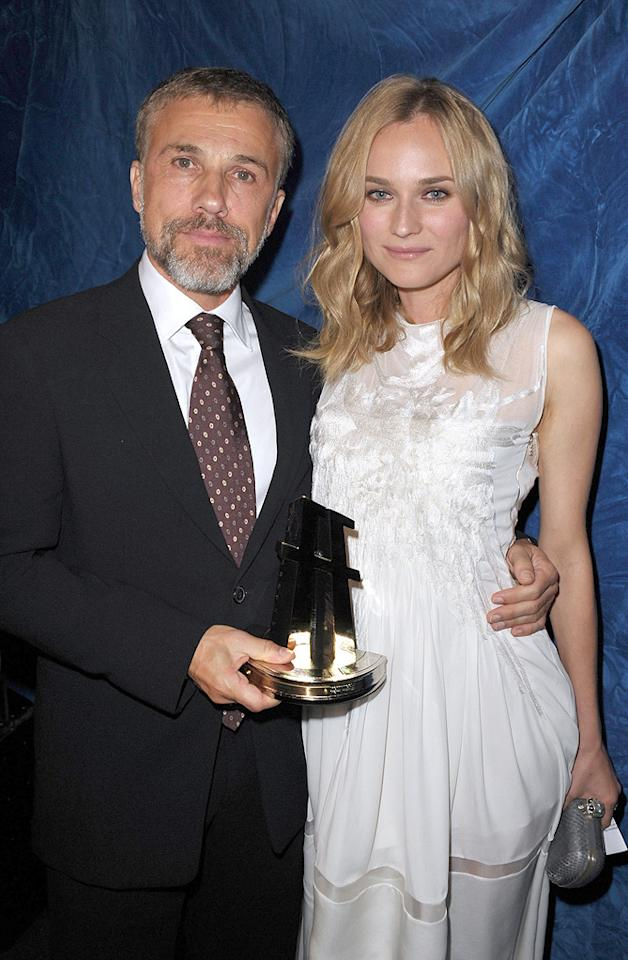"""<a href=""""http://movies.yahoo.com/movie/contributor/1809655132"""">Christoph Waltz</a> and <a href=""""http://movies.yahoo.com/movie/contributor/1808488303"""">Diane Kruger</a> at the 13th Annual Hollywood Awards Gala held at the Beverly Hilton Hotel - 10/26/2009"""