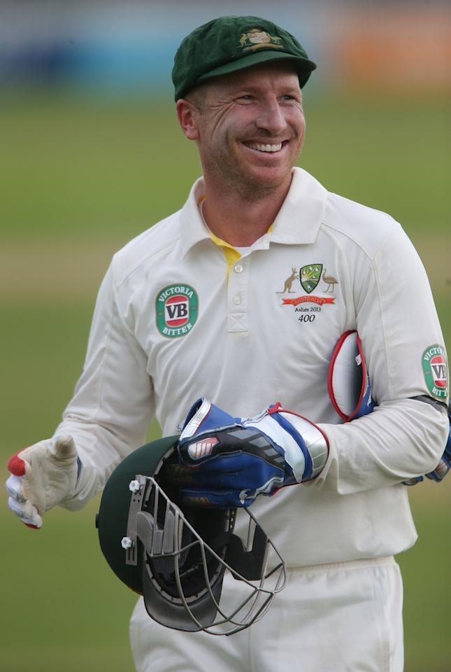 Australia vice captain Brad Haddin during the International Tour match at the County Ground, Taunton.