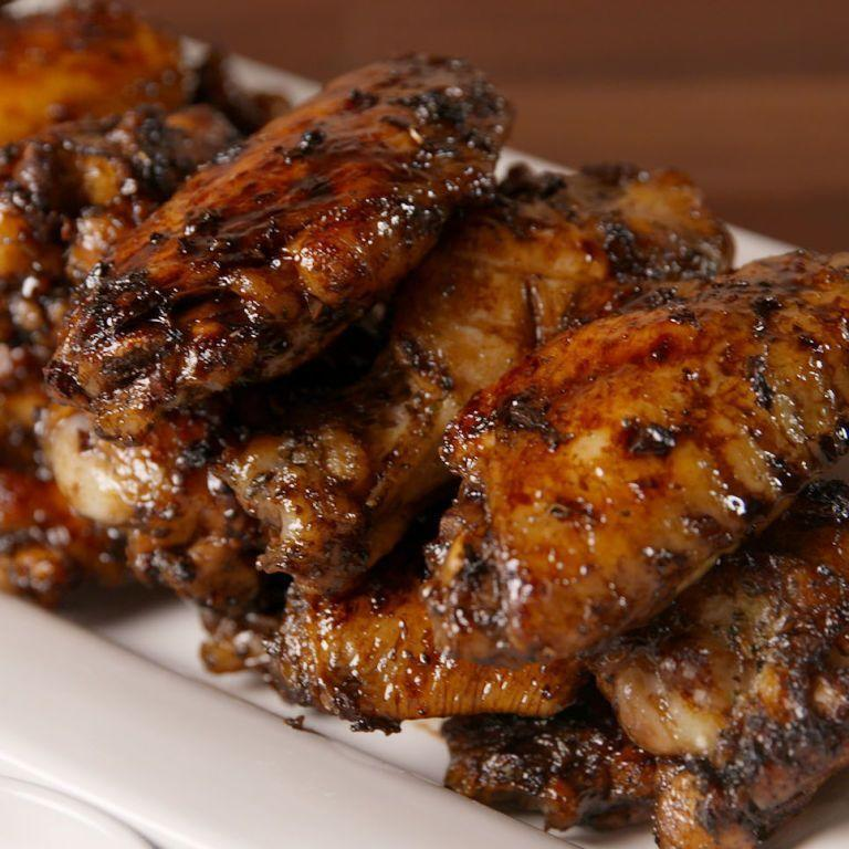 """<p>Why have we never done this before? Chicken wings + balsamic vinegar = insane flavours. </p><p>Get the <a href=""""https://www.delish.com/uk/cooking/recipes/a35642664/balsamic-glazed-wings-recipe/"""" rel=""""nofollow noopener"""" target=""""_blank"""" data-ylk=""""slk:Balsamic Glazed Chicken Wings"""" class=""""link rapid-noclick-resp"""">Balsamic Glazed Chicken Wings</a> recipe.</p>"""
