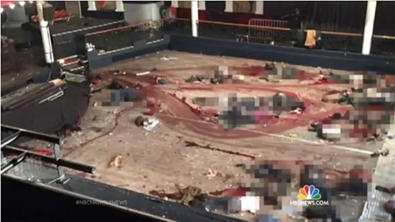 The scene in Le Bataclan after the horrific terror attacks that killed 89 people.