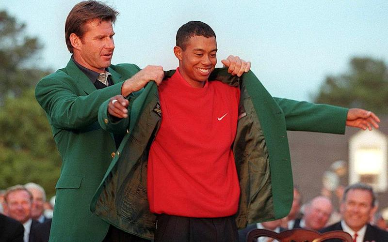 Tiger Woods green jacket - Credit: AFP