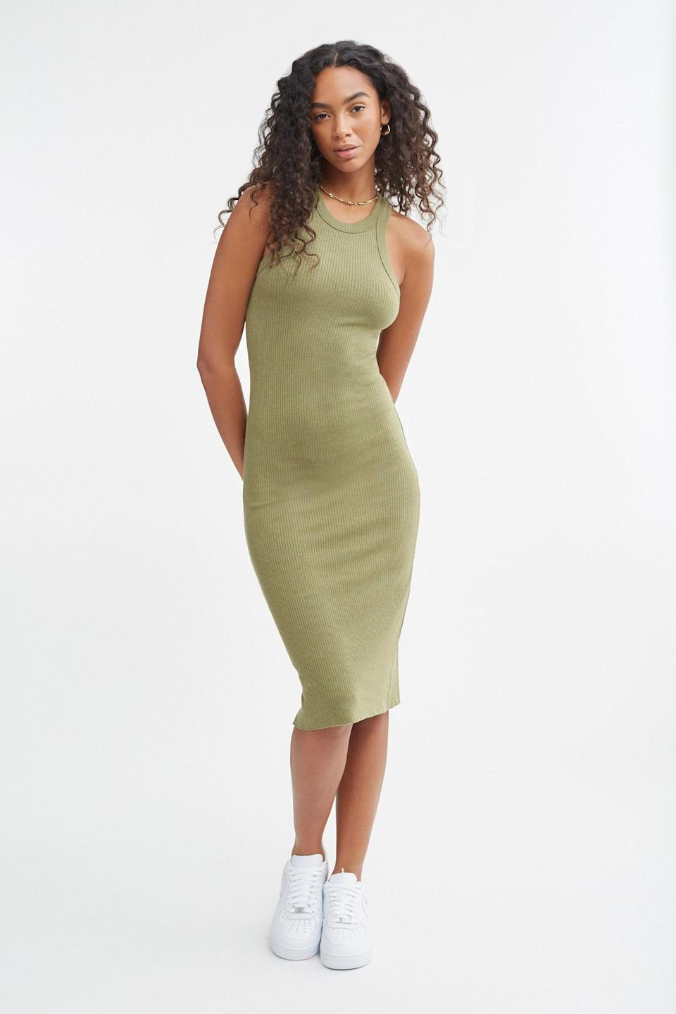 <p>It doesn't get any cooler than this <span>Bandier Rivington Ribbed Tank Dress</span> ($98).</p>