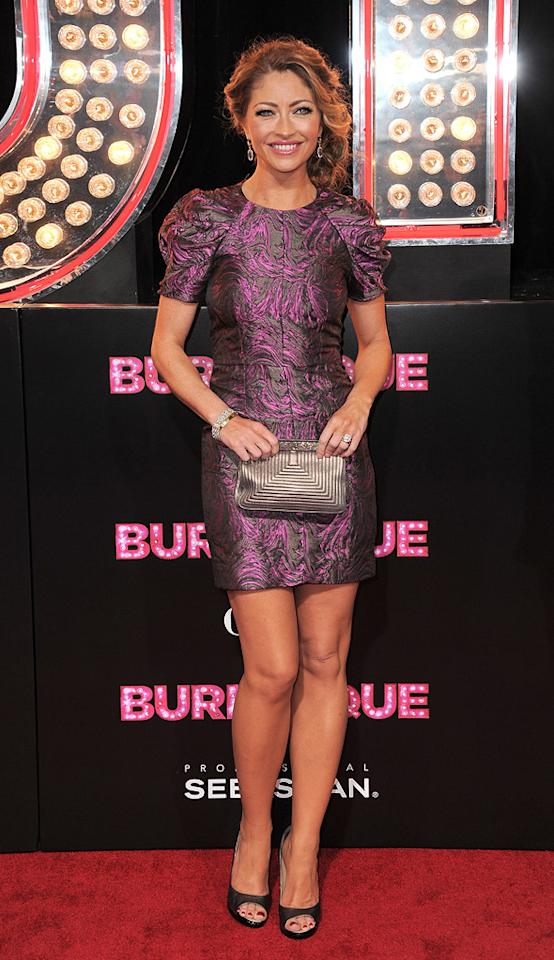 "<a href=""http://movies.yahoo.com/movie/contributor/1800022678"">Rebecca Gayheart</a> at the Los Angeles premiere of <a href=""http://movies.yahoo.com/movie/1810125282/info"">Burlesque</a> on November 15, 2010."