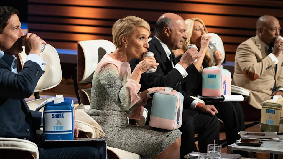 "SHARK TANK - ""1018"" - First into the Tank is an entrepreneur from North Bergen, New Jersey, who introduces a traditional hand-held food snack from his Argentinian culture."