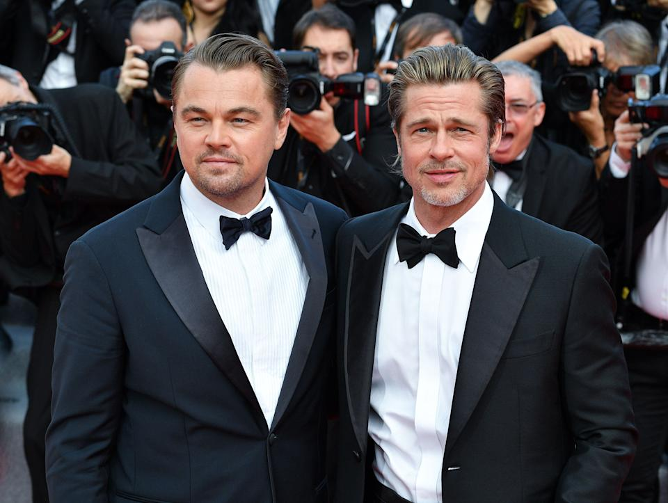 """Brad Pitt and Leonardo DiCaprio at a screening of """"Once Upon a Time in Hollywood"""" at the Cannes Film Festival on May 21. (Photo: George Pimentel/WireImage)"""