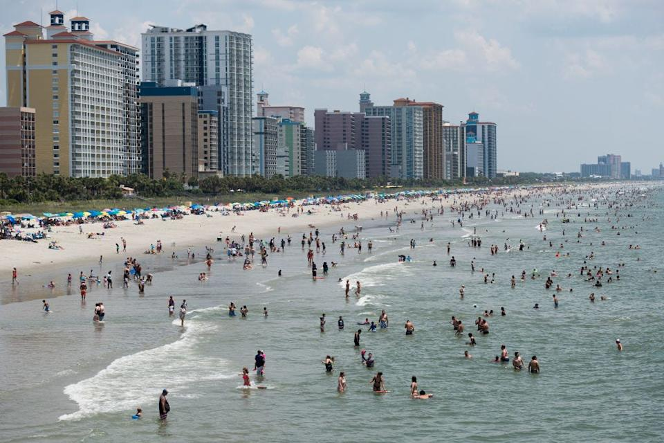 Americans flocked to Myrtle Beach in South Carolina on July 4.