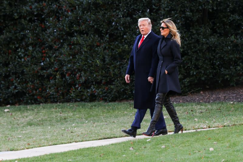 FILE PHOTO: U.S. President Donald Trump departs from the White House for holiday travel to his home in Florida, in Washington