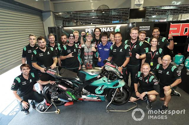 "Segundo lugar Fabio Quartararo, Petronas Yamaha SRT <span class=""copyright"">Gold and Goose / Motorsport Images</span>"
