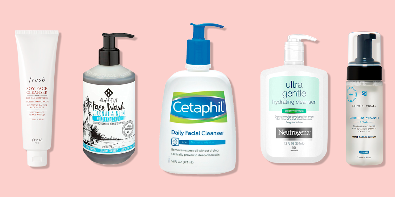 """<p><a href=""""https://www.wakehealth.edu/"""" target=""""_blank""""></a>You may feel tempted to try every type of face wash (waters! gels! lotions!), but when it comes to taking care of your <a href=""""https://www.goodhousekeeping.com/beauty/anti-aging/tips/a23739/winter-dry-skin-remedies/"""" target=""""_blank"""">dry skin</a>, simple — and hydrating —  is better. """"Gentle cleansers are best, with no fragrances,"""" says <a href=""""https://www.wakehealth.edu/Providers/M/Amy-McMichael"""" target=""""_blank"""">Amy McMichael, M.D.</a>, a professor and chair of the department of dermatology at <a href=""""https://www.wakehealth.edu/"""" target=""""_blank"""">Wake Forest Baptist Health.</a> """"Cleansers with ceramides can be particularly moisturizing as well."""" <br></p><p>The <a href=""""https://www.goodhousekeeping.com/institute/about-the-institute/"""" target=""""_blank"""">Good Housekeeping Institute </a>Beauty Lab has a long history of testing face washes for cleansing efficacy and effects on skin. The beauty team scours the market for the best face washes, which are then vetted by Beauty Lab scientists. The product labels are then masked to eliminate brand bias before they are distributed to hundreds of consumers across the country. Testers use the products in their regular routine then evaluate them on criteria including ease of application, texture, scent, and how effectively they wash away makeup, impurities, and excess oil without irritation. In the most recent GH Beauty Lab face washes test, <strong>4,512 data points were tallied to find the best face wash for dry skin.</strong> </p><h2>How to find the best face wash for dry skin</h2><p>When shopping for the best face cleansers for dry skin, including <a href=""""https://www.goodhousekeeping.com/beauty/anti-aging/g30298302/best-moisturizers-for-sensitive-skin/"""" target=""""_blank"""">sensitive skin</a>, choose a formula by looking for the same hydrating ingredients you'd find in moisturizers, like glycerin, hyaluronic acid, and botanical oils and butters. On product packaging, seek"""