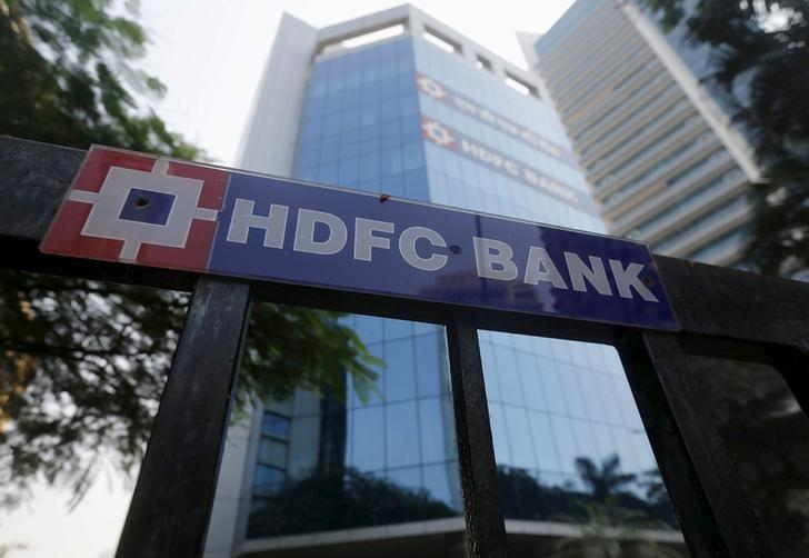 FILE PHOTO: The headquarters of India's HDFC bank is pictured in Mumbai
