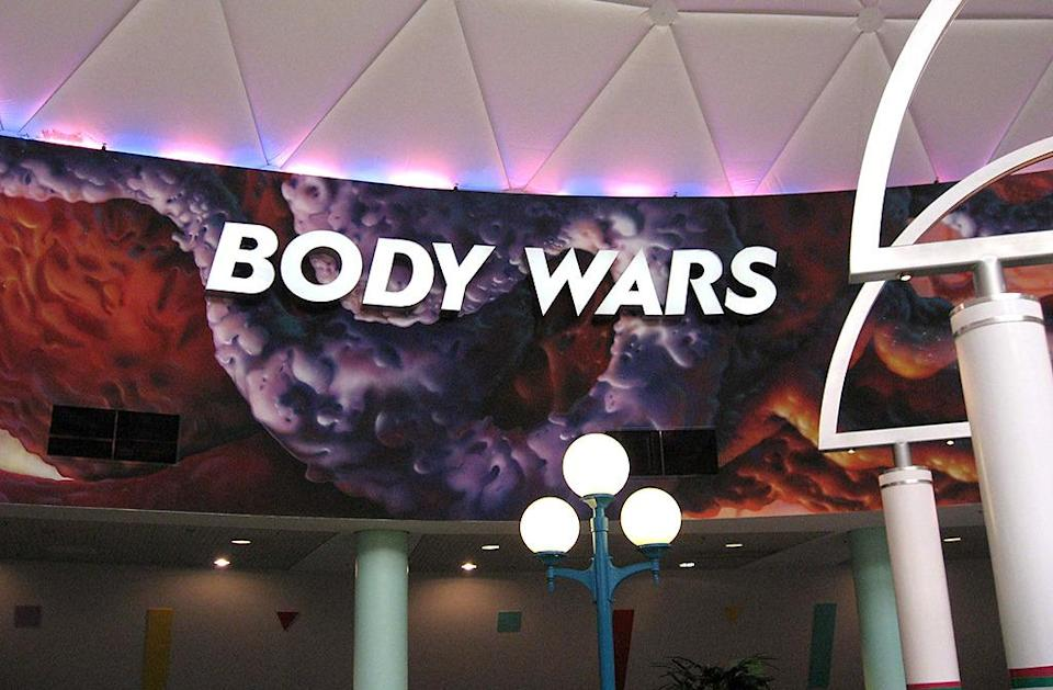 "<p>Forget <i>Star Wars</i>: the real action is going on inside our own bodies. Seemingly inspired by the 1966 sci-fi classic <i>Fantastic Voyage</i> (and its equally great 1987 companion piece <i>Innerspace</i>), Epcot's Body Wars motion simulator inserted the audience into a ""body probe"" to analyze the effects of a splinter lodged in the skin. Sounds simple enough, but just wait until your probe accidentally gets pulled into a capillary headed directly for the heart! Fun fact: Body Wars, which closed in 2007, was directed by none other than Spock himself, Leonard Nimoy. <i><a href=""https://commons.wikimedia.org/w/index.php?curid=48209546"" rel=""nofollow noopener"" target=""_blank"" data-ylk=""slk:(Photo: Edward Russell/Wikipedia)"" class=""link rapid-noclick-resp"">(Photo: Edward Russell/Wikipedia)</a></i></p>"