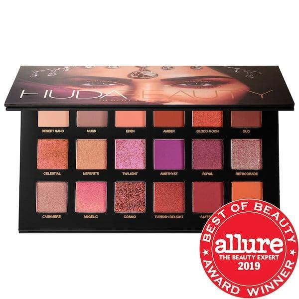 <p>There's so much to love in this <span>Huda Beauty Desert Dusk Eyeshadow Palette</span> ($39, originally $65) with glittery, matte, pearly, and duo-chrome shadows inside.</p>