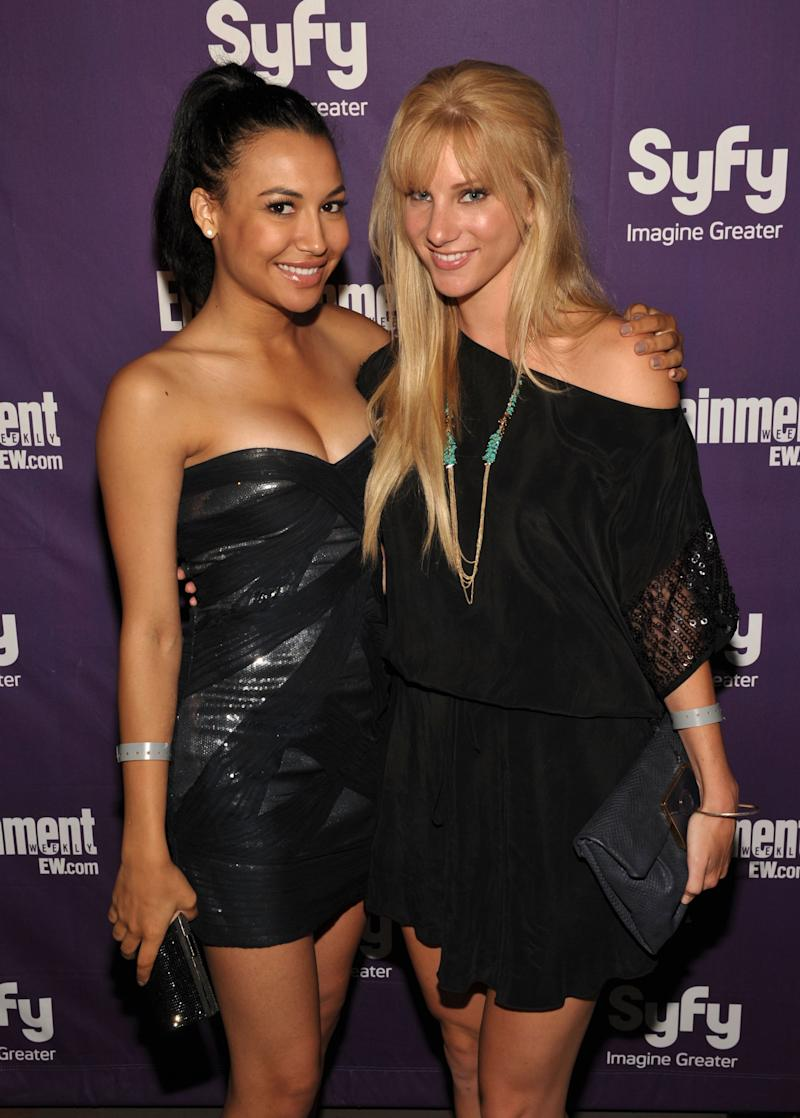 Naya Rivera and Heather Morris attend the EW and SyFy party during Comic-Con 2010 at Hotel Solamar on July 24, 2010 in San Diego, California.