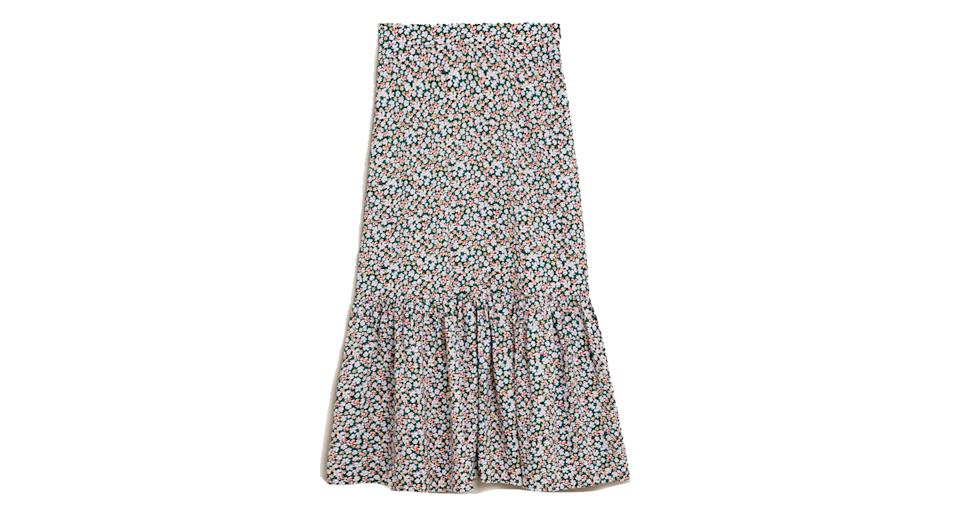 Floral Midi Tiered Skirt