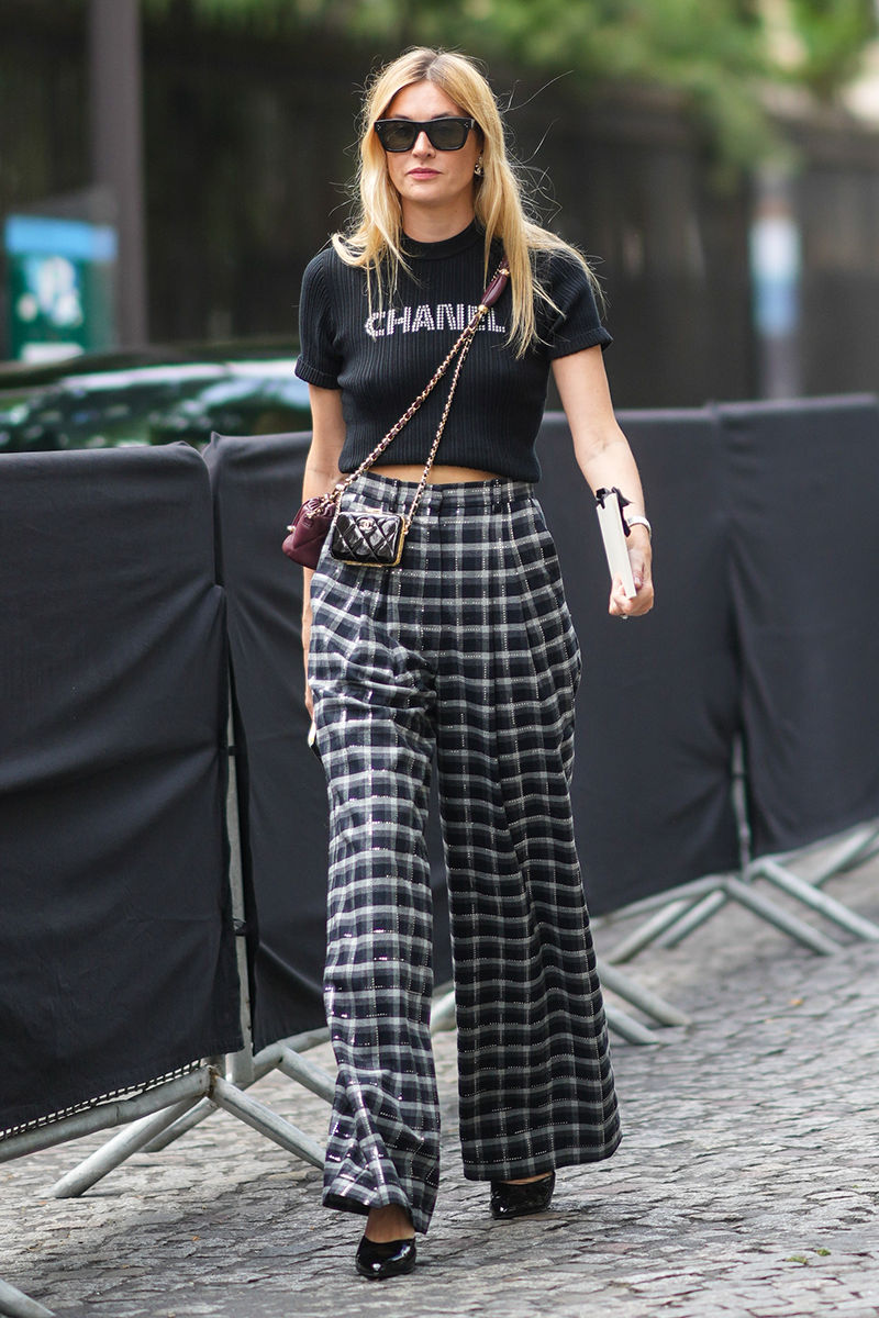 <p>Team statement wide-leg trousers with a matching t-shirt and pumps or ballet flats (depending on your preference) for a quick and easy outfit to reach for in the morn.</p>