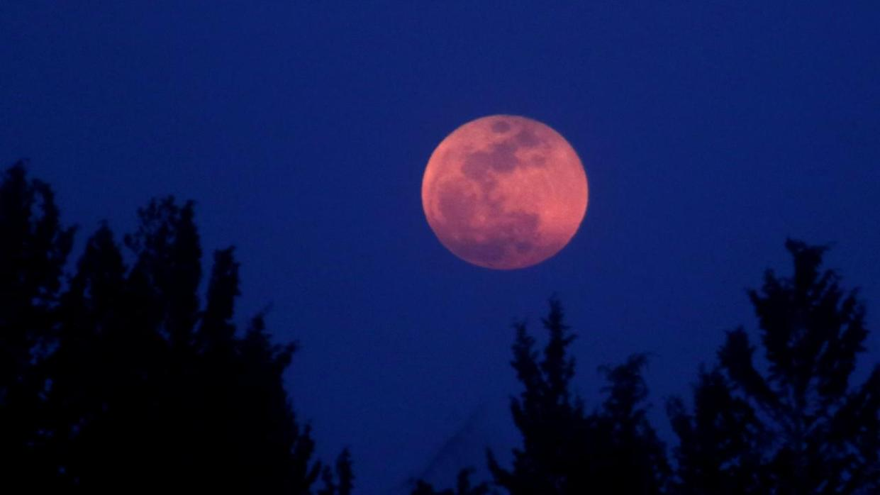 """The eclipse, which will last one hour and 43 minutes, will also feature a """"blood moon"""""""