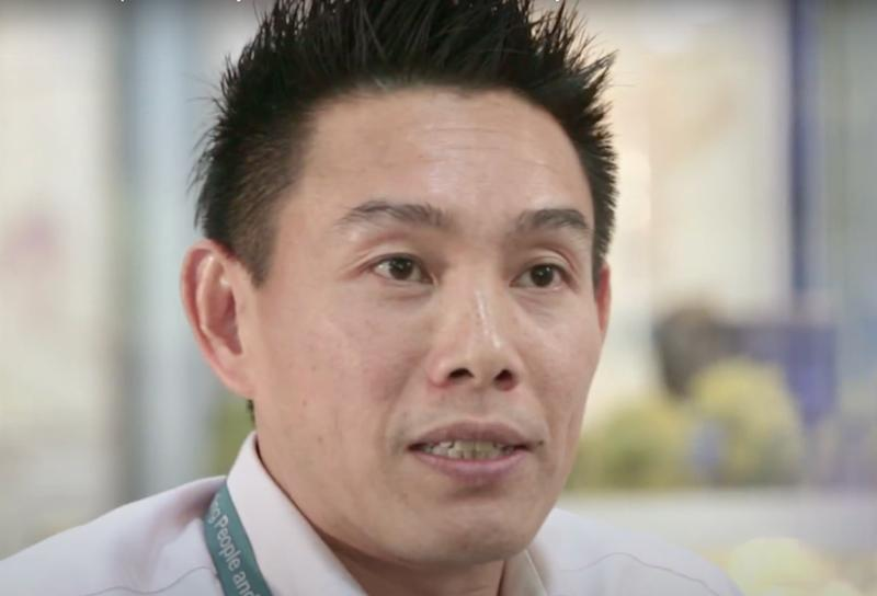 Former Deputy Group Director with the Land Transport Authority Foo Yung Thye, Henry, who was charged in court for corruption. (Photo: Screencap from video))