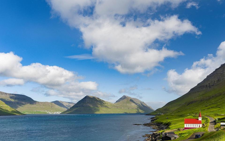 The church in village Husar on Kalsoy - Getty