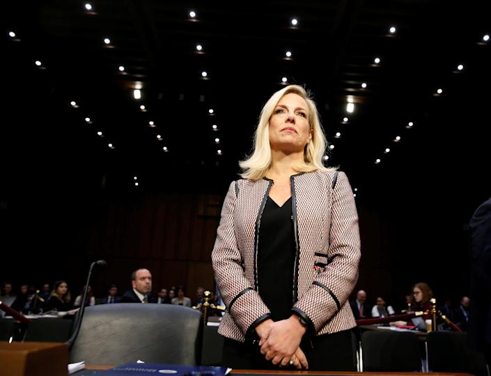 """Homeland Security Secretary Kirstjen Nielsen testifies to the Senate Judiciary Committee on """"Oversight of the U.S. Department of Homeland Security"""" on Capitol Hill on Jan. 16, 2018. (Photo: Joshua Roberts/Reuters)"""