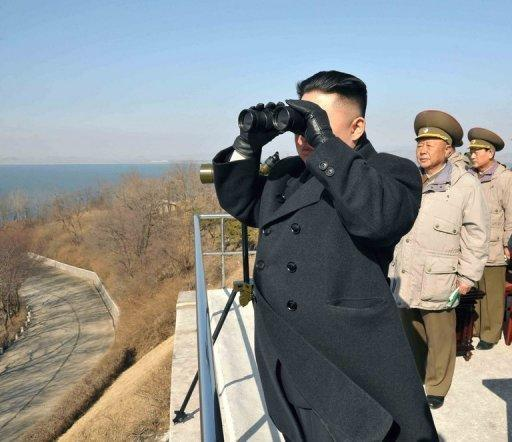 This photo, released by North Korea's official Korean Central News Agency (KCNA) on March 15, shows N. Korean leader Kim Jong-Un inspecting a military strike drill. South Korea accused North Korea Monday of trying to develop a nuclear-armed missile through a satellite launch next month, after Pyongyang dismissed international calls to abandon the exercise