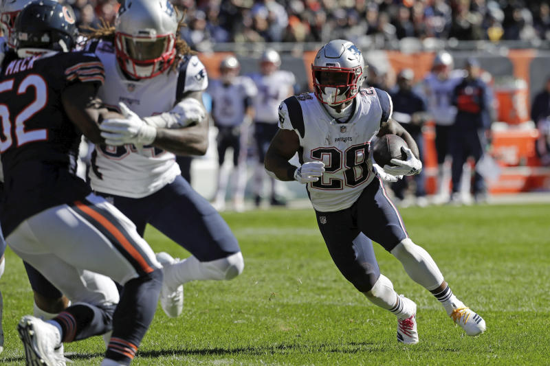Patriots' Sony Michel's knee injury 'not considered serious'