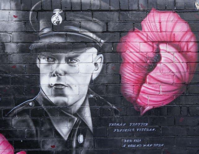 A mural of Tommy Trotter
