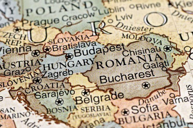 A close-up/macro photograph of Eastern Europe from a desktop globe. Adobe RGB color profile. (Photo: KeithBinns via Getty Images)